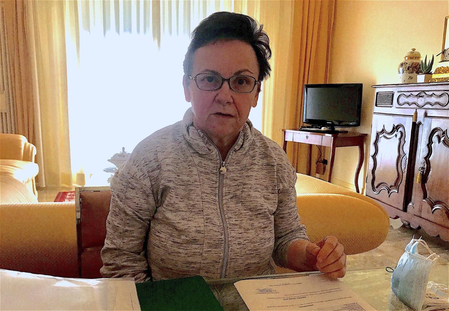 Giovanna Sivelli, 65 anni, affetta da sensibilità chimica multipla