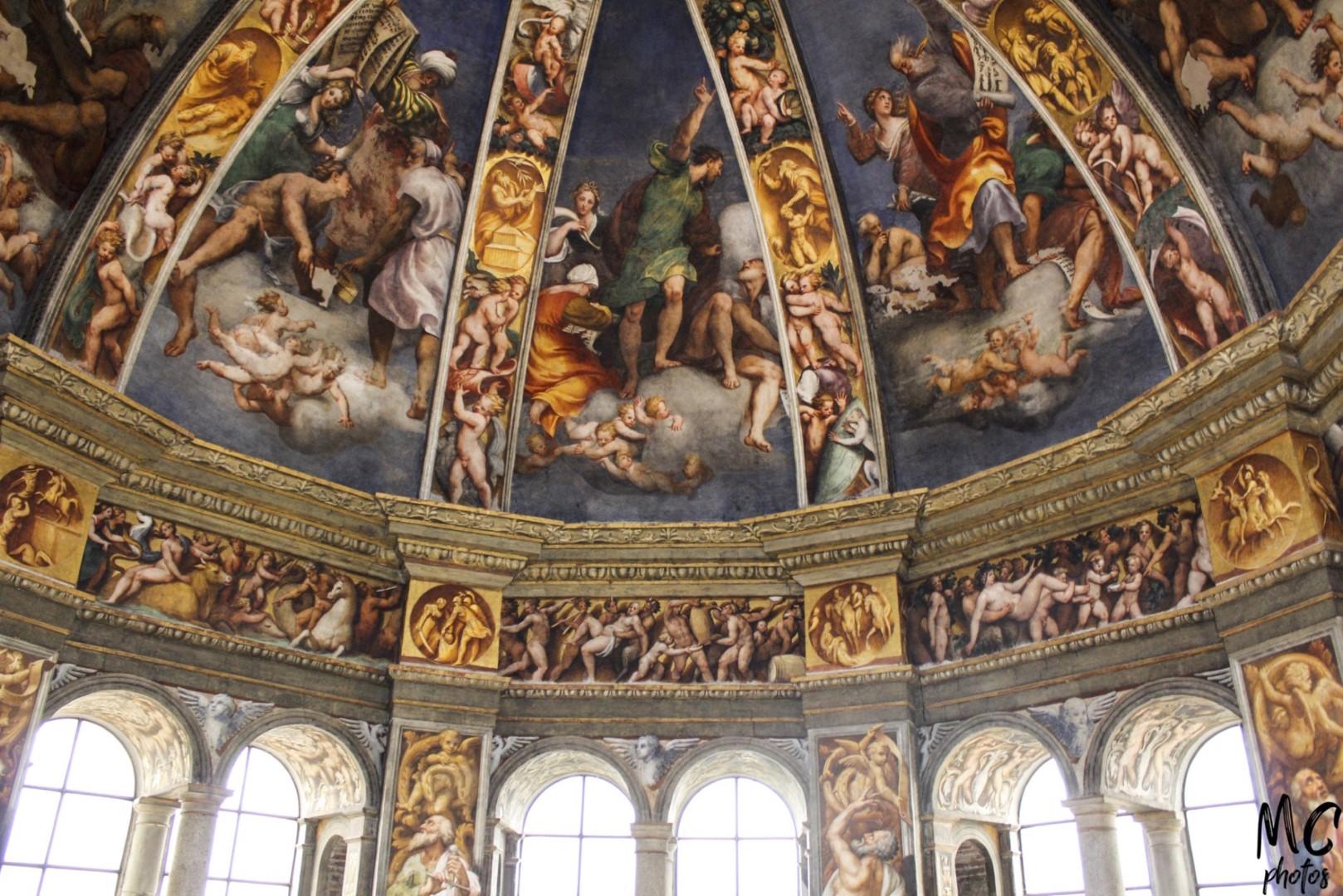 La cupola maggiore affrescata dal Pordenone