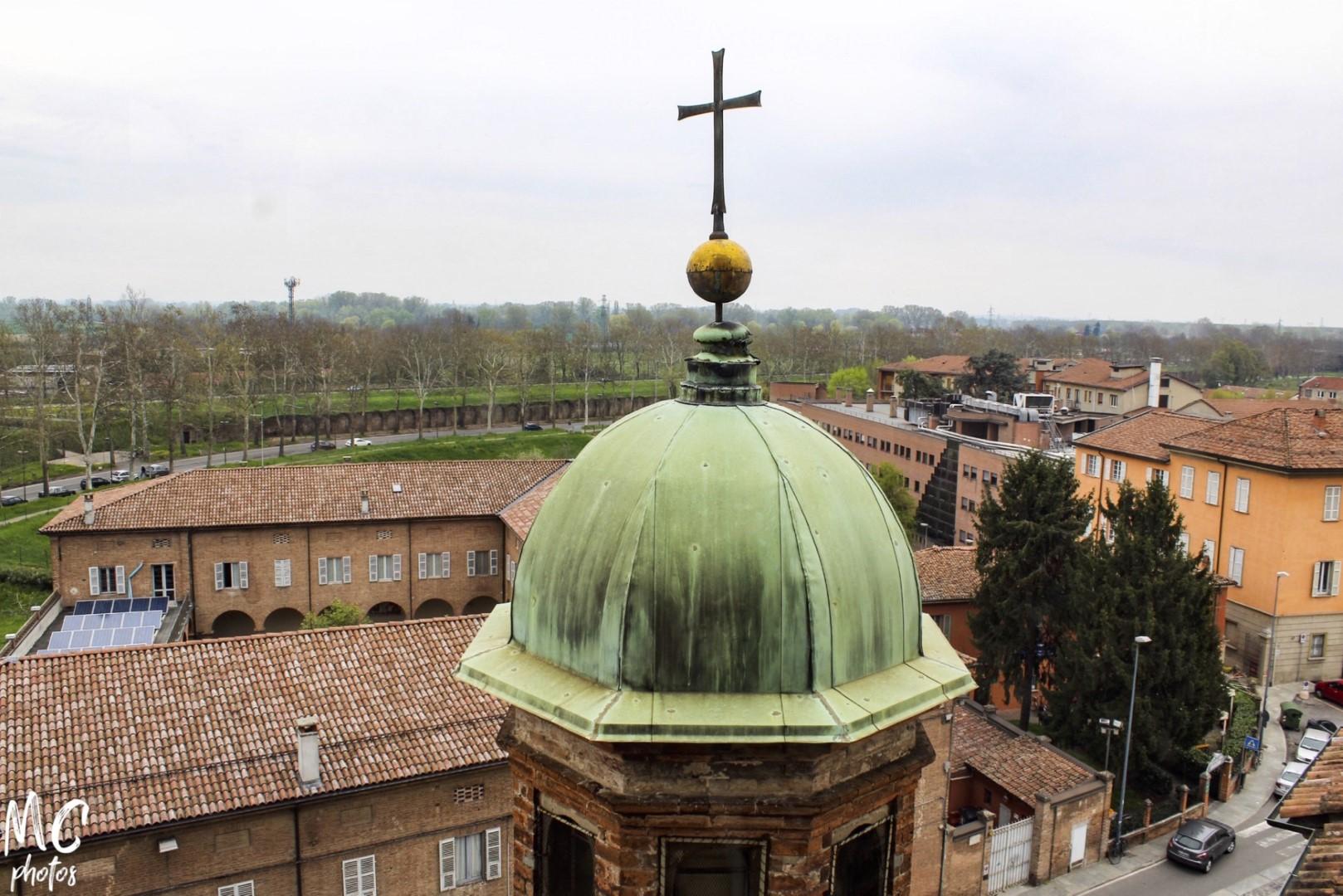 Il panorama dalla galleria circolare sulla cupola in Santa Maria di Campagna