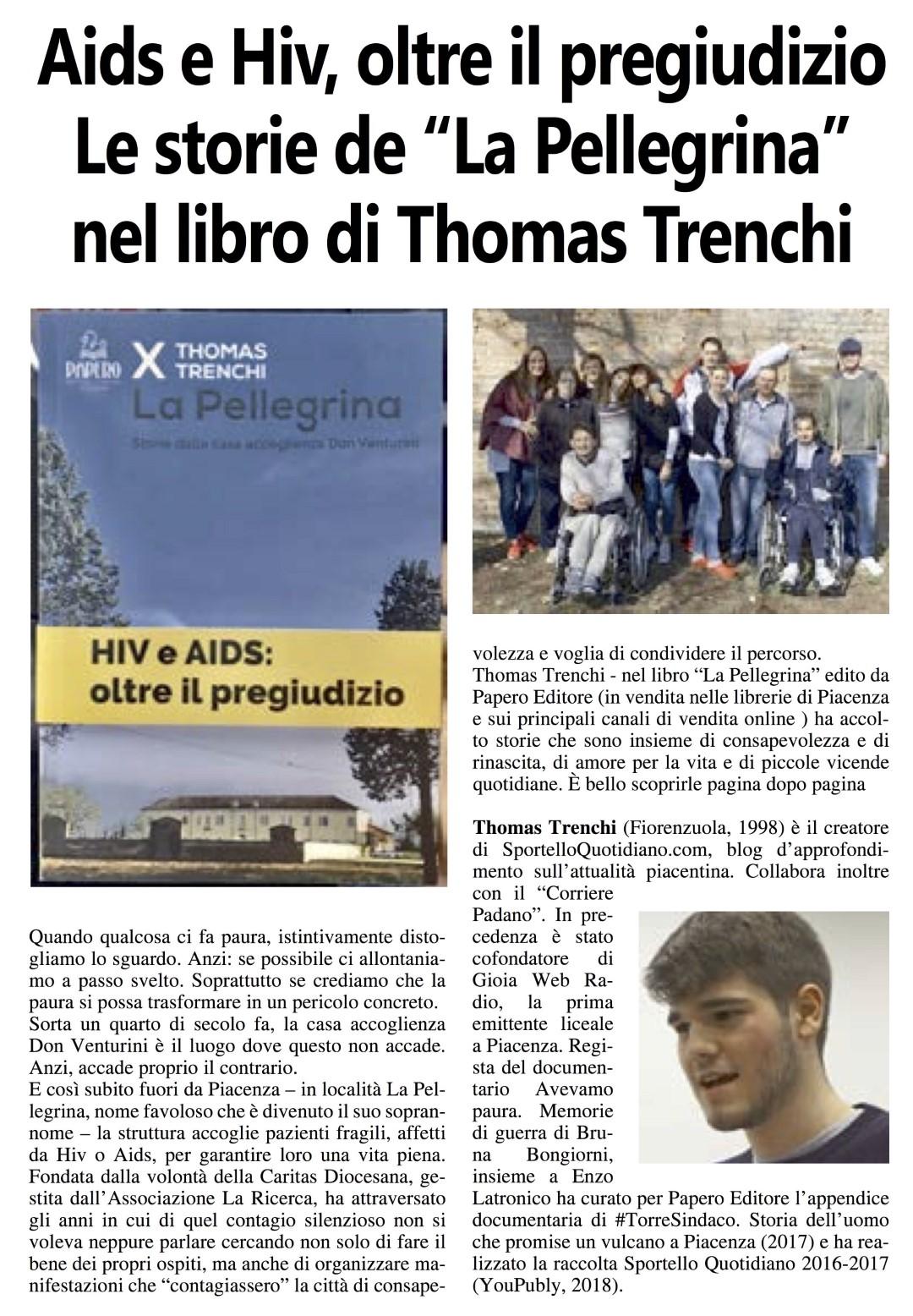 Corriere Padano Pellegrina Thomas Trenchi
