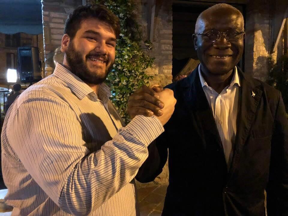 Il consigliere comunale della Lega Nord Marvin Di Corcia e il senatore Tony Iwobi