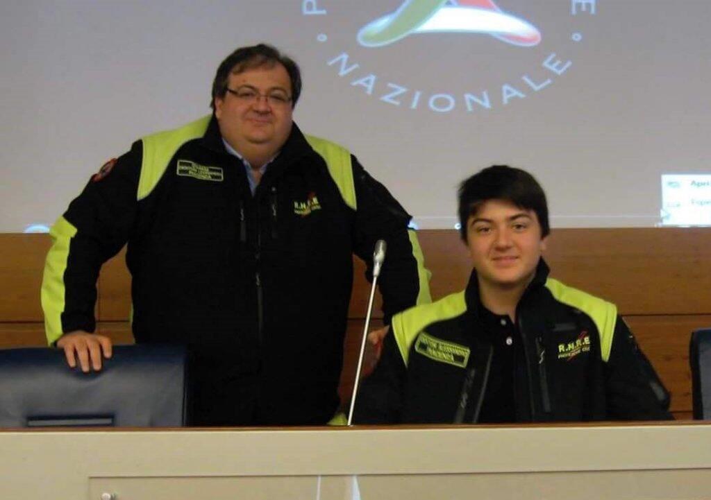 Alessandro Dentoni insieme al padre Leonardo